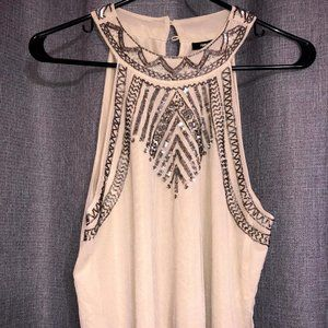 Beautiful Beaded Forever 21 High Neck Tank Top
